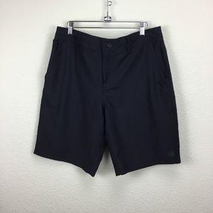 Hang Ten Mens Flat Front Shorts Black 34